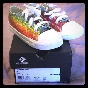 Converse lo glitter sneaker, kids sz 10